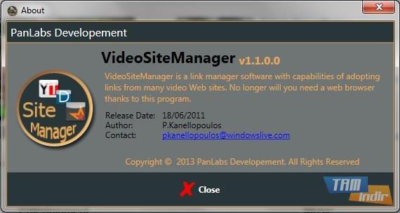 VideoSiteManager Ekran Görüntüleri - 3
