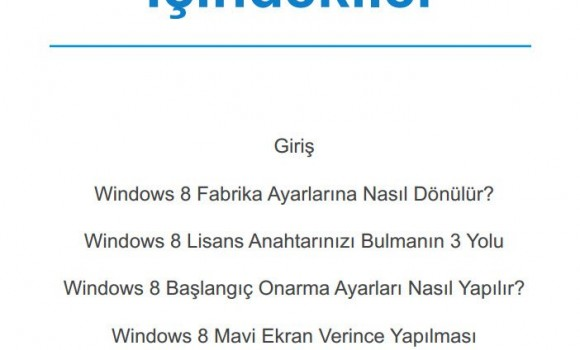 Windows 8'de Yaşanan Sorunlar ve Çözümleri Ekran Görüntüleri - 1