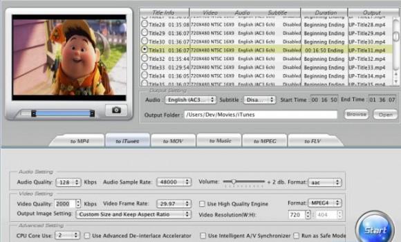 WinX DVD Ripper Mac Free Ekran Görüntüleri - 1
