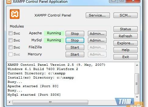 XAMPP Ekran Görüntüleri - 4