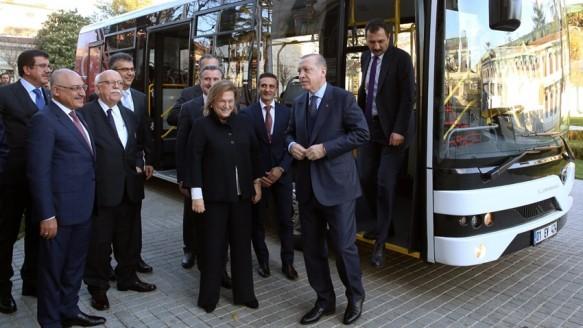 Erdoğan, TEMSA'nın Elektrikli Otobüsünü Test Etti