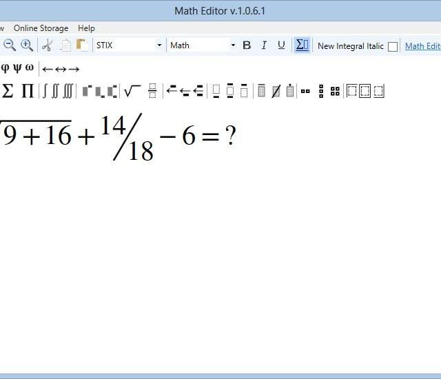Math Editor İndir - Matematiksel Denklem Hazırlama Programı - Tamindir