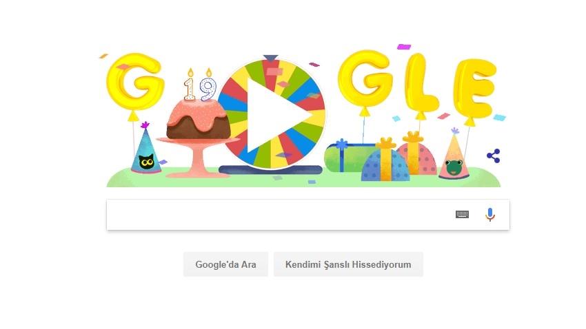 Google Doğum Günü Çarkı Feleği