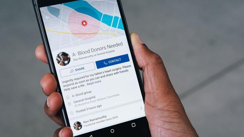 Facebook Kan Bağışı Özelliği