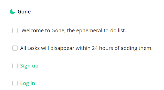 Gone Web Uygulaması