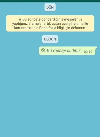 whatsapp silinen mesaj