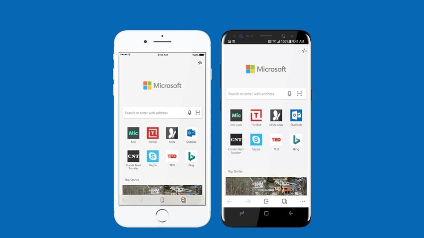 Microsoft Edge, Android ve iOS'a Geliyor