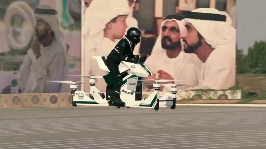 Dubai Polisi Suçluları Uçan Motosiklet 'Hoverbike' İle Yakalayacak