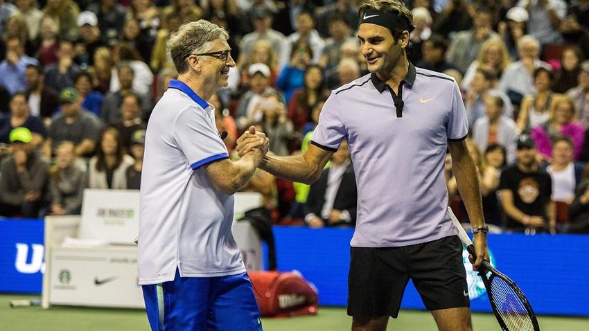 Bill Gates ve Roger Federer Bağış Toplamak Amacıyla Maç Yapacak