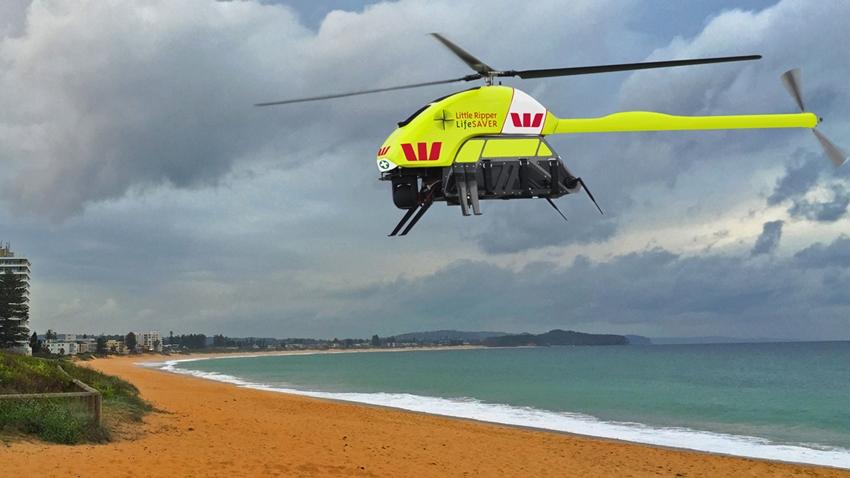 Cankurtaran Drone, Okyanusta Boğulmak Üzere Olan İki Kişiyi Kurtardı