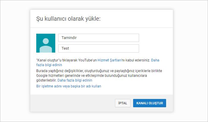 youtube kanal ismi belirleme