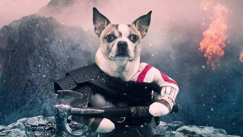 Kratos'u Bir Köpek Canlandırsaydı Nasıl Olurdu