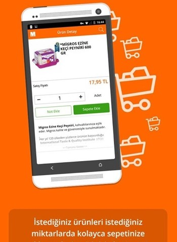 Migros Sanal Market app