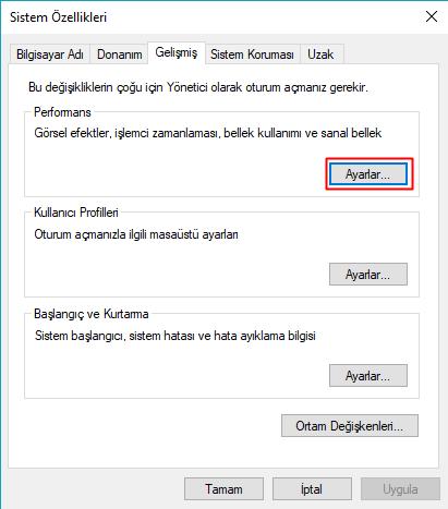 windows sistem özellikleri