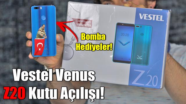 Vestel Venus z20 kutu açılımı