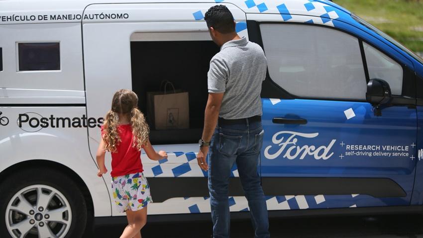 FORD sürücüsüz teslimat