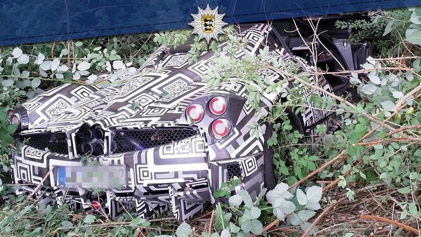 Pagani test aracı kaza