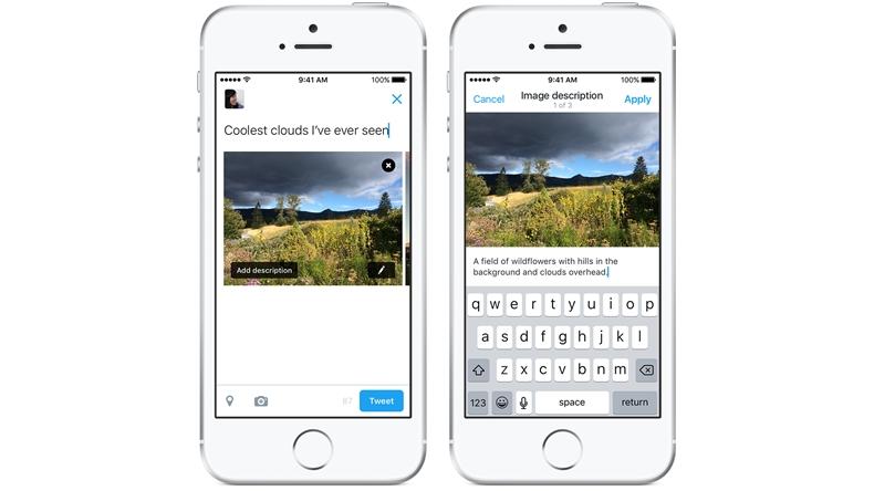 Twitter özellik görme engelli bireyler