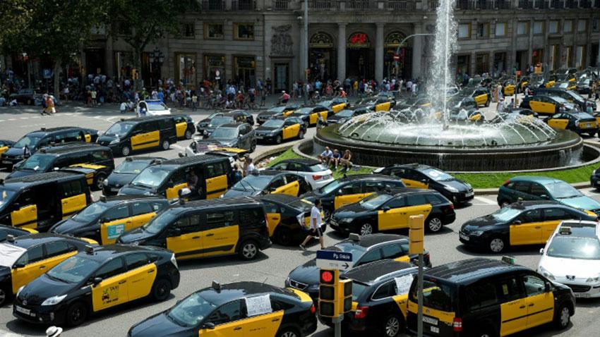 İspanya Uber Karşıtı Gösteriler 1