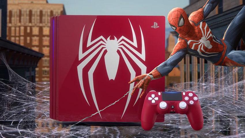 Örümcek Adam Temalı PS4 Pro 1
