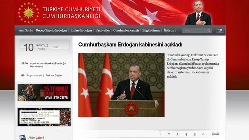 Yeni Sistemde Başbakanlık Resmi Sitesi Kaldırıldı