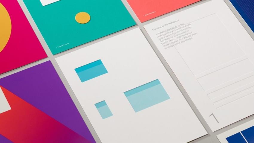 Google Chrome materyal tasarım