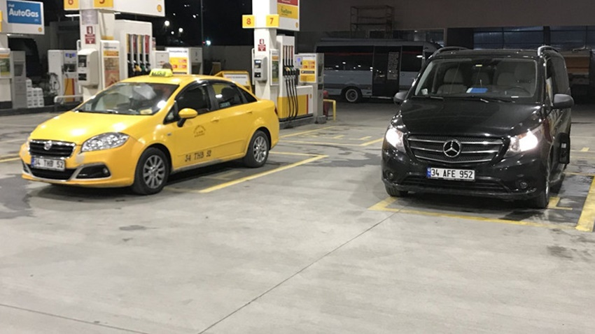 UBEr sarı taksi kavga