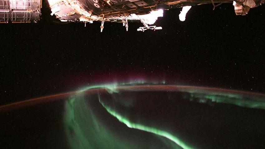 NASA Kuzey Işıklarını Uzaydan Görüntüledi