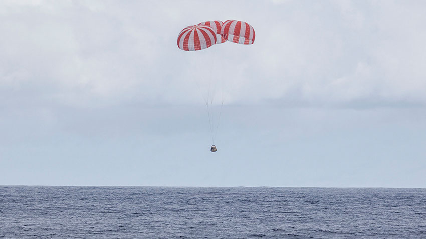 SpaceX Dragon Kapsülü Dünyaya Döndü