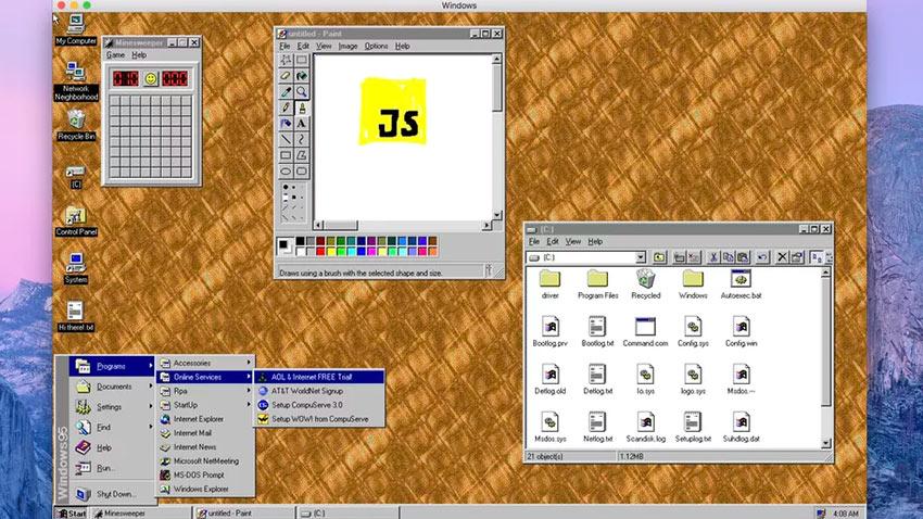 Windows95 Uygulama Haline Donuşturuldu