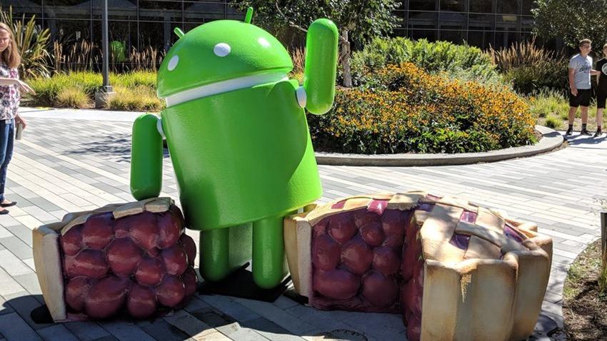 Android Pie heykel