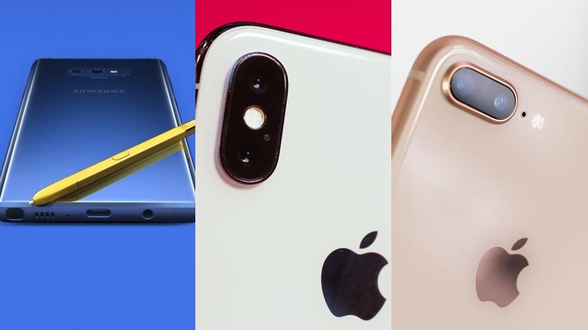 Samsung Galaxy Note 9, iPhone X ve iPhone 8 Plus Karşılaştırması