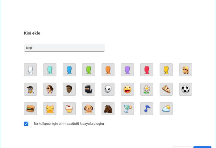Chrome profil bilgileri