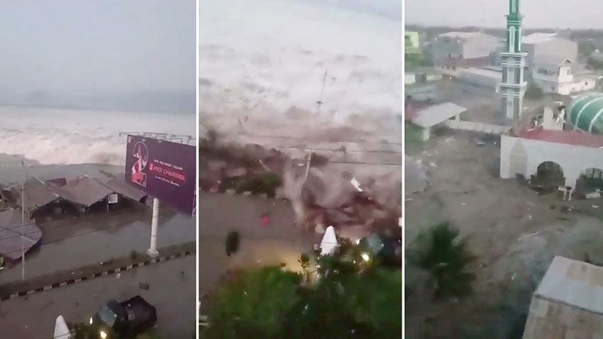 Endonezya Tsunami Görüntüleri