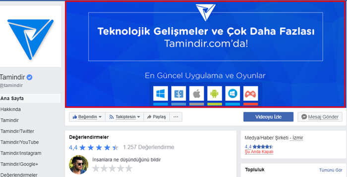 facebook sayfası kapak fotoğrafı boyutu