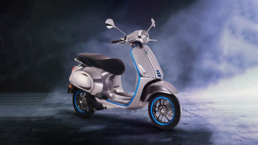 Vespa Elettrica Elektrikli Motosiklet 1