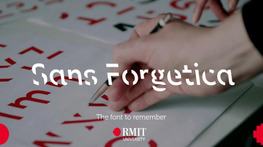 Sans Forgetica yazıtipi