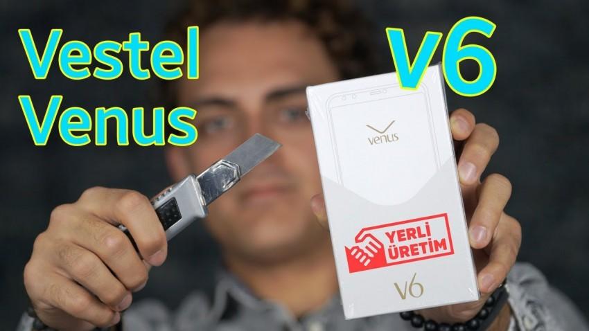 Vestel Venus V6 Kutu Açılımı