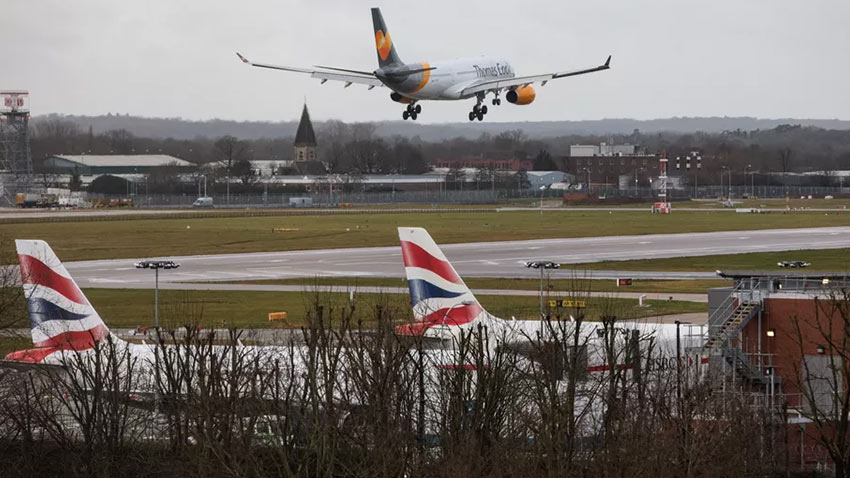 İngiltere Havalimanı Drone Uçuşu