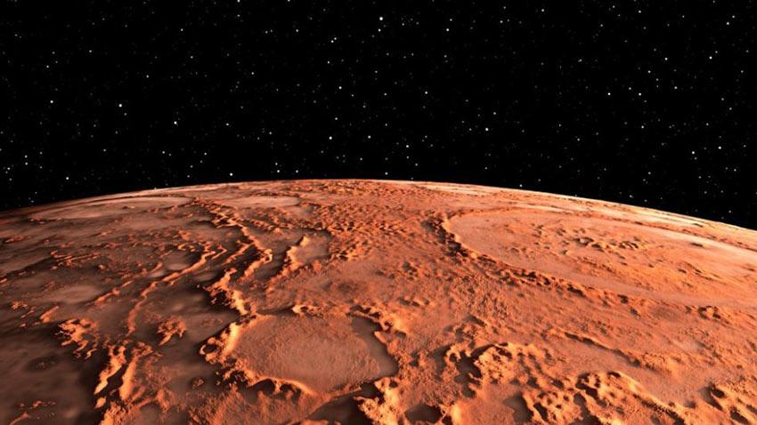Mars Şaşırtıcı Krater Görüntüsü 1