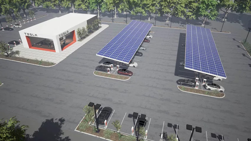 Tesla Supercharger Şarj İstasyonları 1