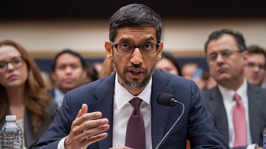 """Google CEO'suna ABD Kongresi'nde İlginç """"Trump"""" Sorusu"""