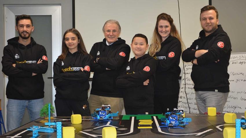 Bursalı Öğrenciler MAKE X Robot Yarışmasında 3. Oldu