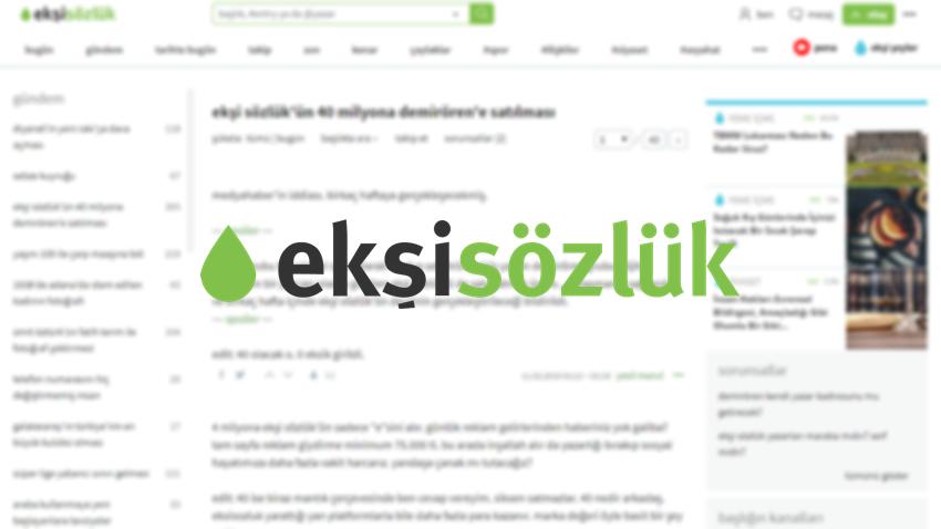 Ekşi Sözlük, 40 Milyon TL'ye  Demirören Holding'e Satıldı İddiası