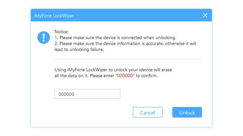 Unlock Screen passcode 5