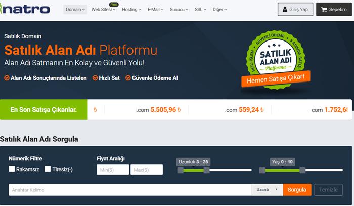 Natro domain satış