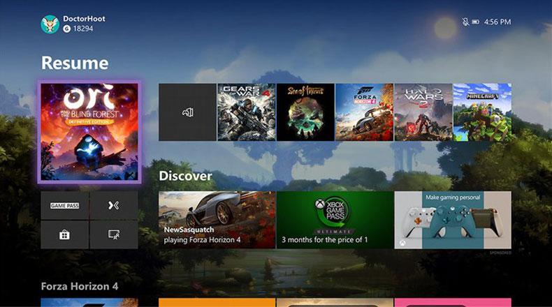 Microsoft Xbox Arayüz 2