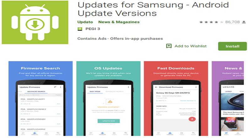 Sahte Samsung Güncellemeleri Uygulaması 2