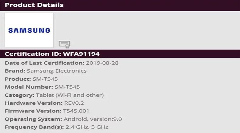 Samsung Yeni Tablet 2