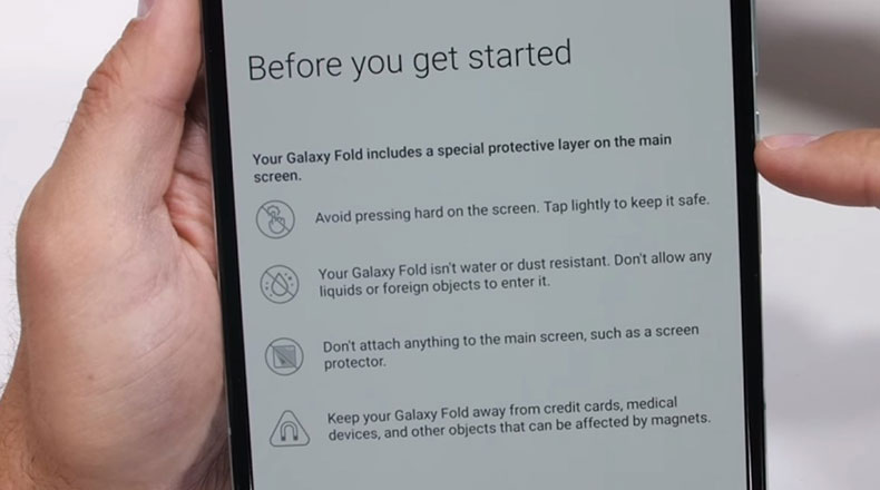 Galaxy Fold Ekran Değişimi 2